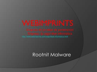 Rootnit Malware