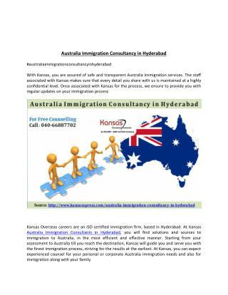Australia Immigration Consultancy in Hyderabad