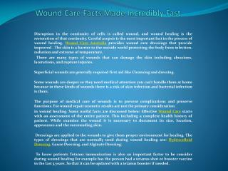 Wound Care Facts Made Incredibly Fast