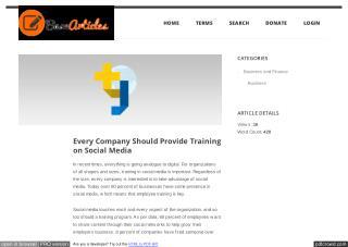 Every Company Should Provide Training on Social Media