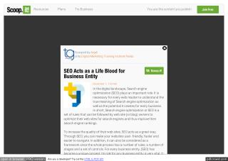 SEO Acts as a Life Blood for Business Entity