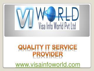 IT services (9899756694) in noida india-visainfoworld.com