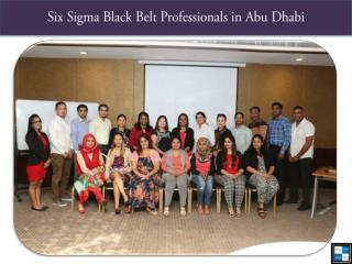 Six Sigma Black Belt Professionals in Abu Dhabi