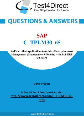 SAP C_TPLM30_65 Certified Application Associate Questions