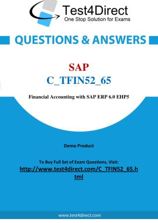 SAP Certified Application Associate C_TFIN52_65 Test