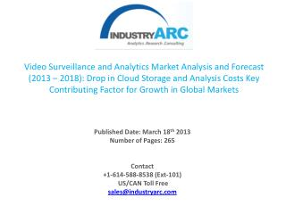 Video Surveillance Service Market's Exclusive High Level Analysis.