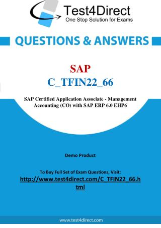 SAP C_TFIN22_66 Test - Updated Demo