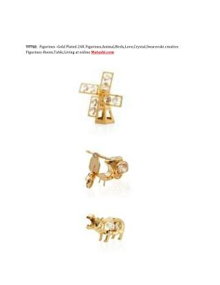 Figurines -Gold Plated 24K Figurines,Animal,Birds,Love,Crystal,Swarovski creative Figurines-Room,Table,Living at online