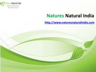 Organic essential oils at Naturesnaturalinda.com