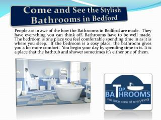 Come and See the Stylish Bathrooms in Bedford