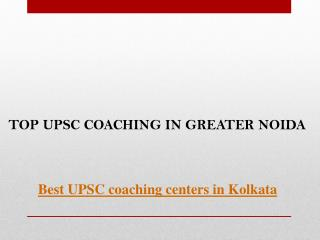 Top upsc coaching in greater noida