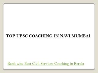 Top upsc coaching in navi mumbai