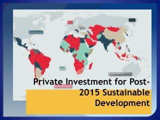 Private investment in Financing for Development