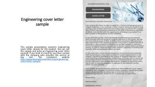 Engineering cover letter sample