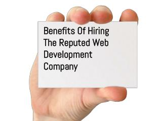 Benefits Of Hiring  Reputed Web Development Company from New-York