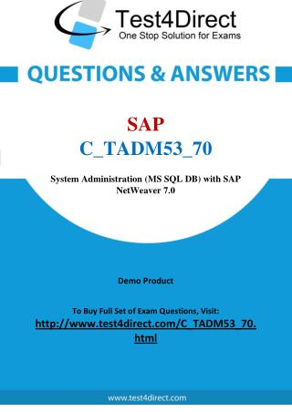 SAP C_TADM53_70 Certified Technology Associate Real Exam Questions