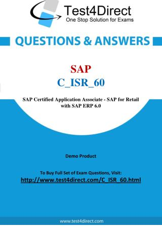 SAP C_ISR_60 Test Real Questions