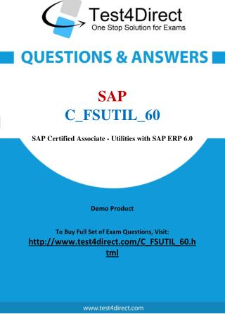 SAP C_FSUTIL_60 Test Questions
