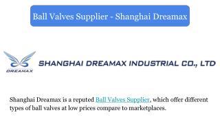 Ball Valves Supplier - Shanghai Dreamax