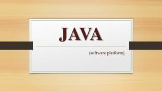 java software platfarm