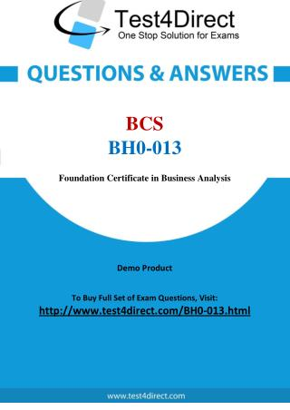 BCS BH0-013 Test - Updated Demo
