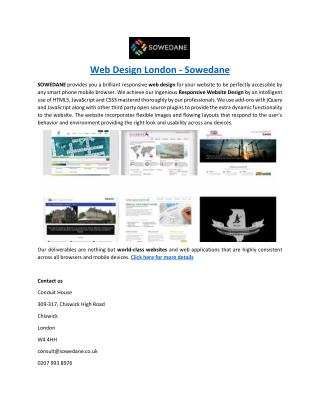 Web Design London - Sowedane