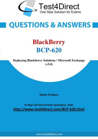 BlackBerry BCP-620 Test - Updated Demo