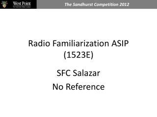Radio Familiarization ASIP 1523E