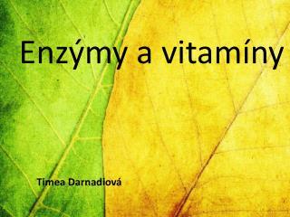 Enzýmy a vitamíny