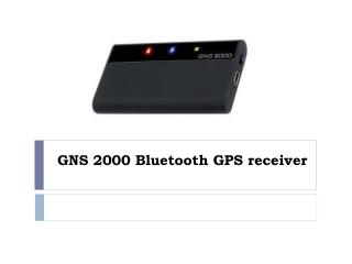GNS 2000 Bluetooth GPS receiver