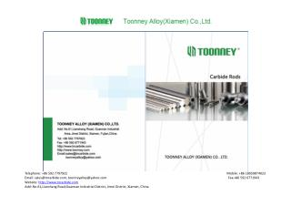 Toonney carbide rods factory