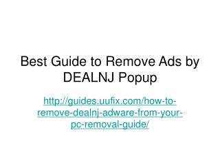 How to Remove Dealnj Adware From Your PC