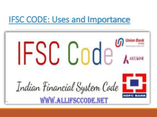 AllIfscCode.net- The useful guide for search your ifsc code Online