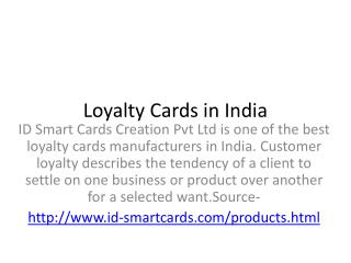 Advantage of loyalty cards
