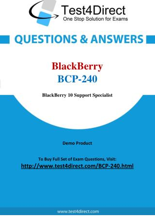 BCP-240 BlackBerry Exam - Updated Questions
