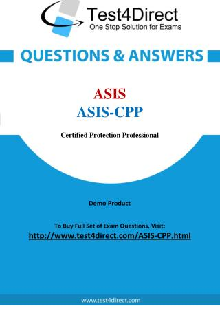 ASIS ASIS-CPP Real Test Questions