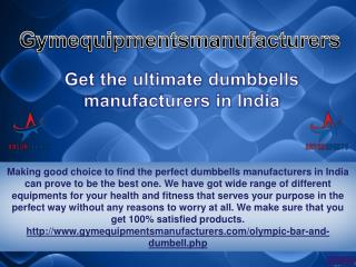 Get the ultimate dumbbells manufacturers in India