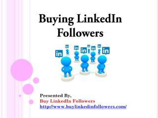 Buying LinkedIn Followers