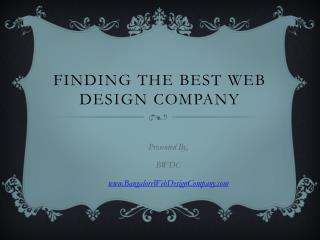 Finding the Best Web Design Company