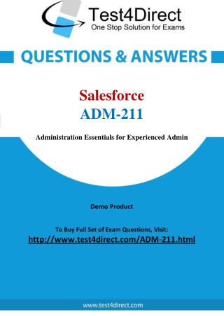 Salesforce ADM-211 Exam Questions