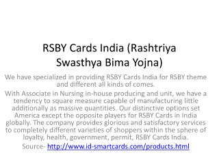 Rsby cards India