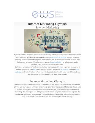 Internet Marketing Olympia