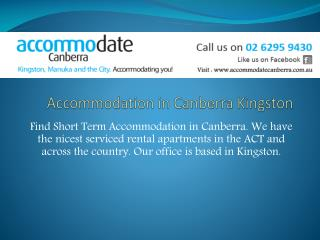 accommodation canberra Kingston