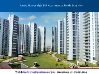 Ajnara Homes 2 Bhk Apartment at Noida Extension