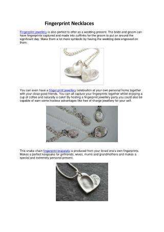 Fingerprint Necklaces