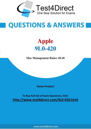 Apple 9L0-420 Exam - Updated Questions