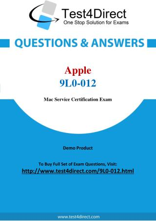 9L0-012 Apple Exam - Updated Questions