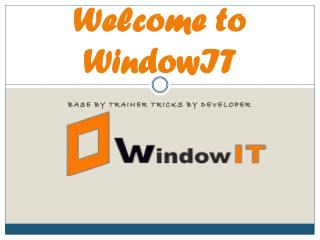 Windowit : 6 Months Industrial Training in Web Design