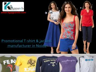 Corporate t-shirts manufacturer in Noida k9apparels