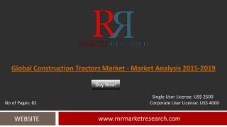 Construction Tractors Market Global Forecasts for 2015 – 2019